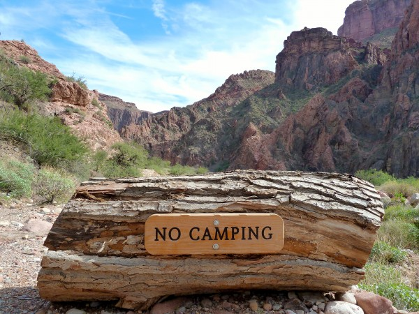 Grand Canyon- No Camping