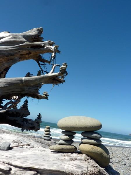Rialto Beach - Cairn Tree