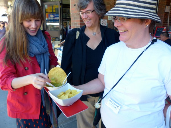 ByWard Culinary Tour- Group eats guac