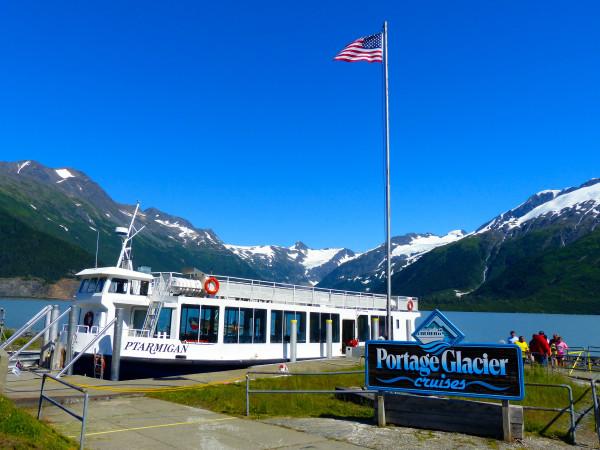 Portage Glacier- boat