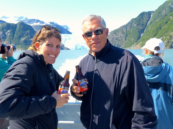 Dad and I drinking alaskan amber