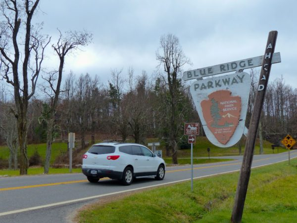 Blue Ridge Parkway sign 3