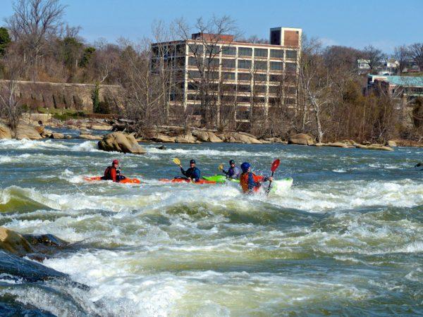 Belle Island- kayakers
