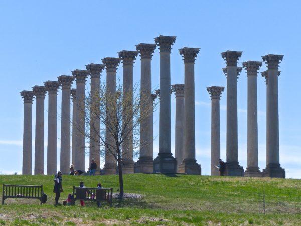 National Arboretum- Capitol Columns from afar