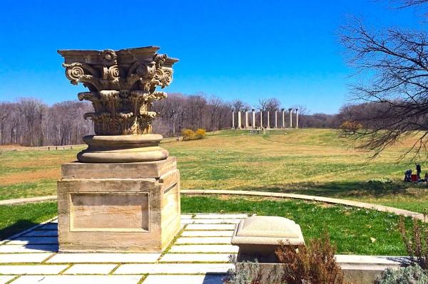 National Arboretum- capitol columns from afar 3