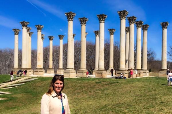 National Arboretum- me and Capitol Columns