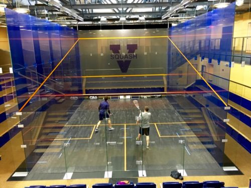 A glimpse inside the Boar's Head's amazing squash facility!