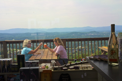 Charlottesville- Carter Mountain Orchard wine with a view- JAR
