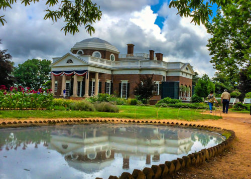 Charlottesville- Monticello- reflection