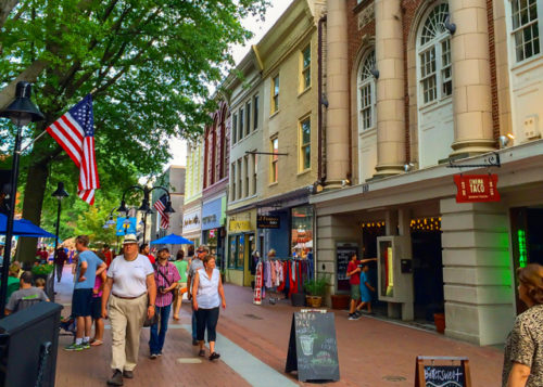 Charlottesville- downtown historic mall