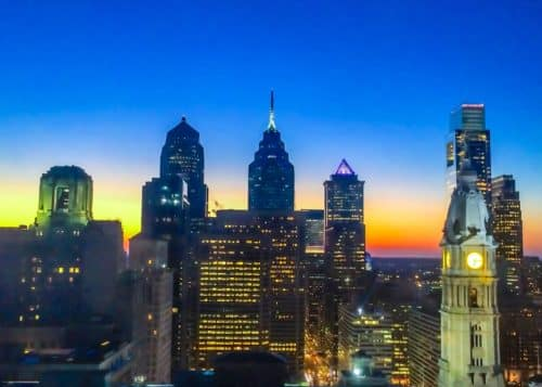 2 Days in Philadelphia - Loews Philadelphia- sunset from room