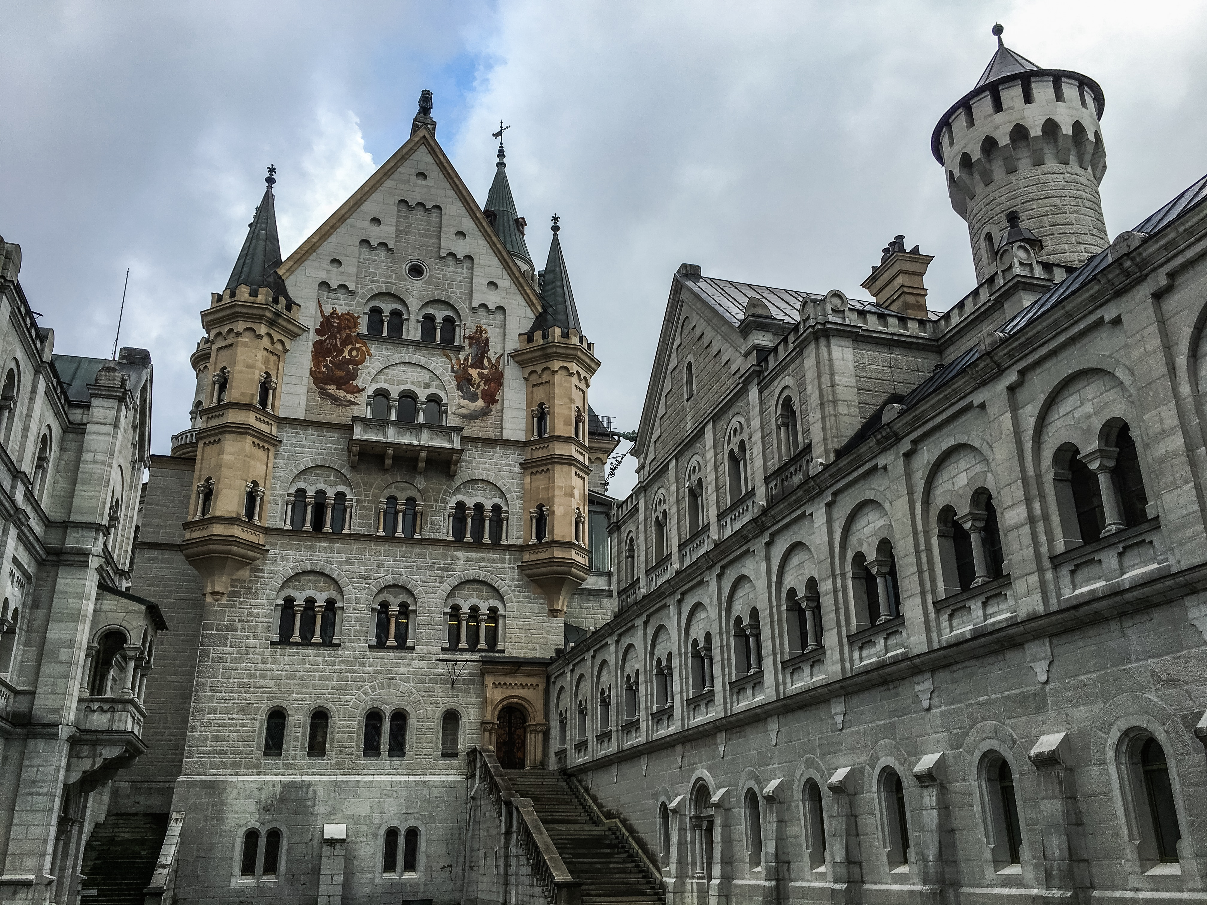 packed suitcase neuschwanstein castle interior