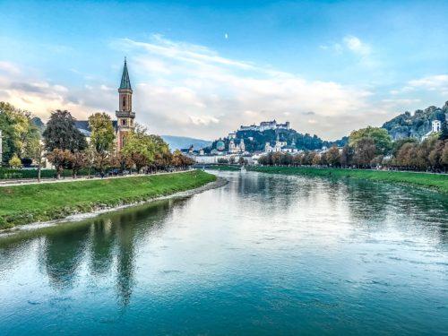 Salzburg-- view along the Salzach River 2