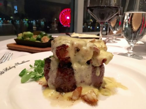 Holidays at the National Harbor- Old Hickory Steakhouse Filet and Crab