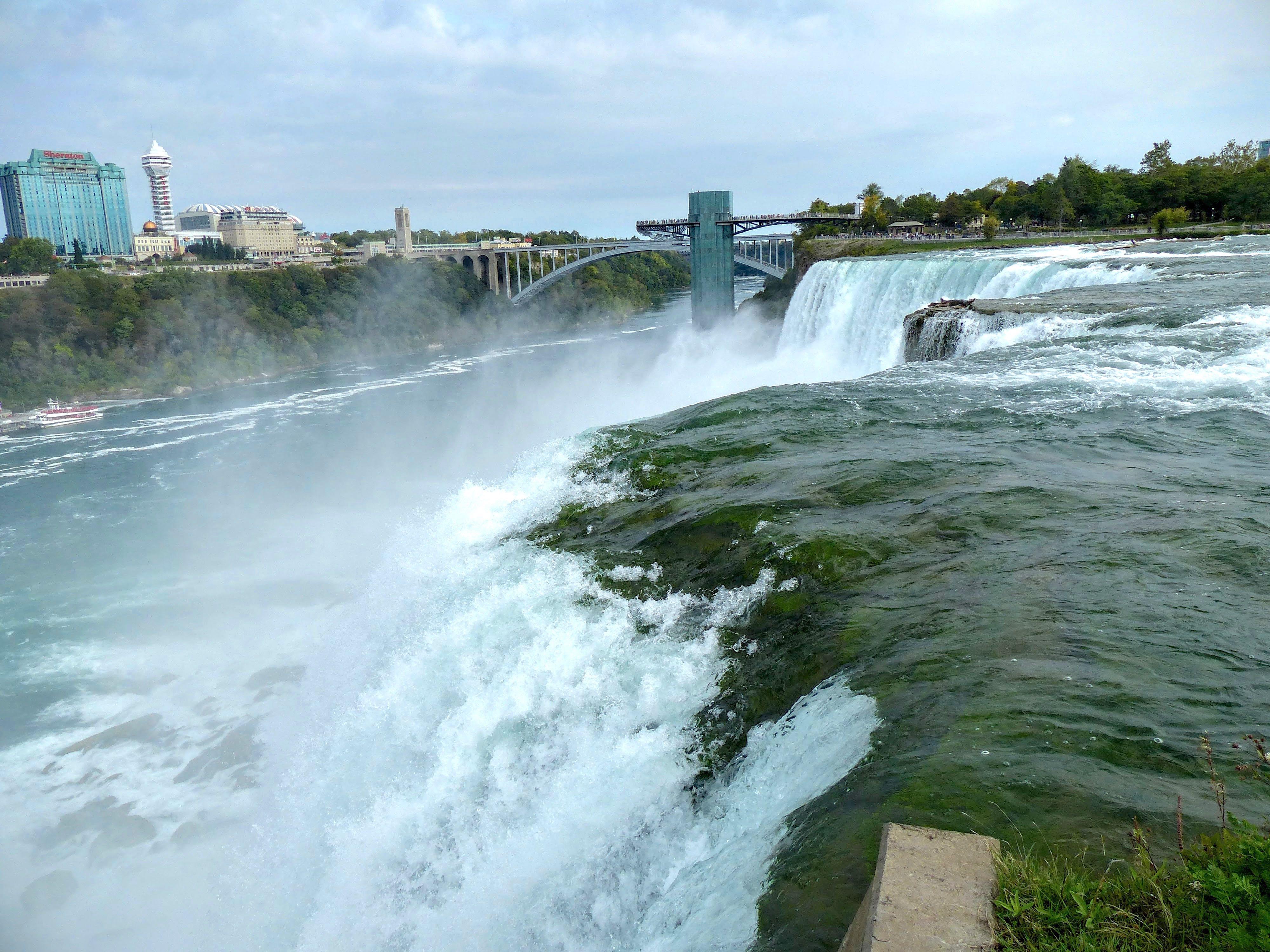Niagara Falls (/ n aɪ ˈ æ ɡ ər ə / ny-AG-ər-ə) is a city in Niagara County, New York, United States. As of the census, the city had a total population of 50,, down from the .